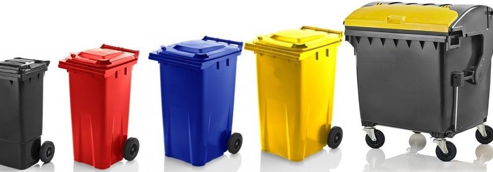 Vuilniscontainers en afvalbakken op wielen