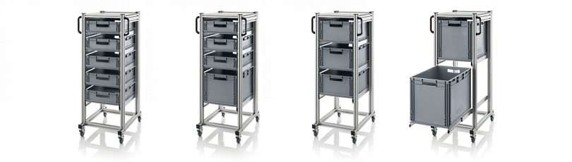 Bakkenwagens voor magazijn en werkplaats