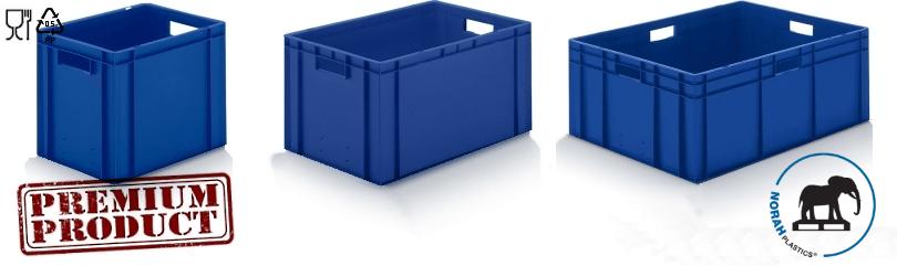 Kunststof bakken in kleur blauw