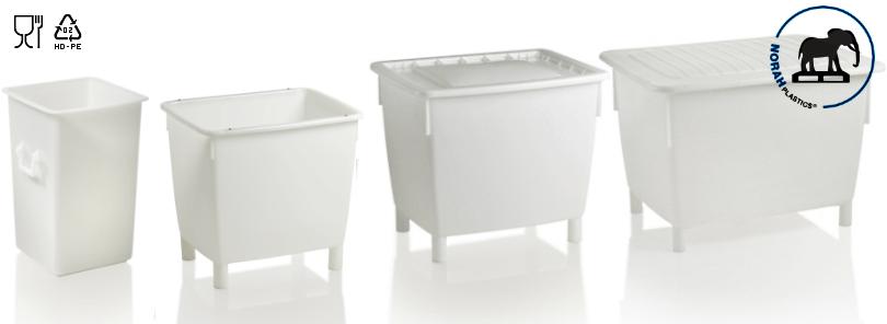 Kunststof containers hygiënisch design