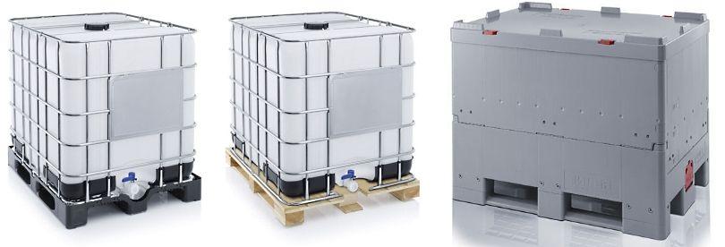 Ibc containers met kunststof pallet