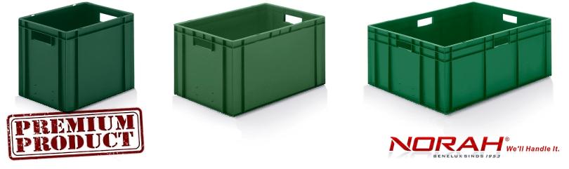 Kunststof bakken in kleur groen