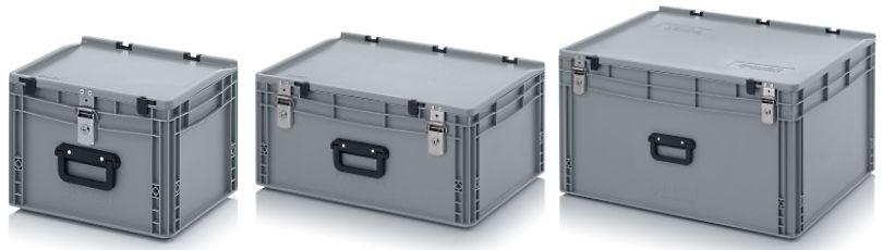 Kunststof koffers met 1 koffergreep en slot