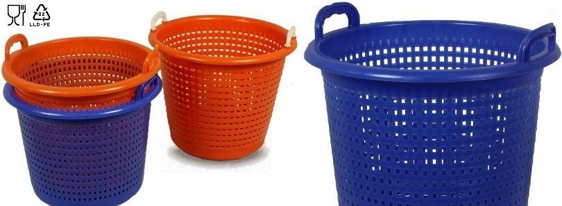 Oranje manden en blauw manden
