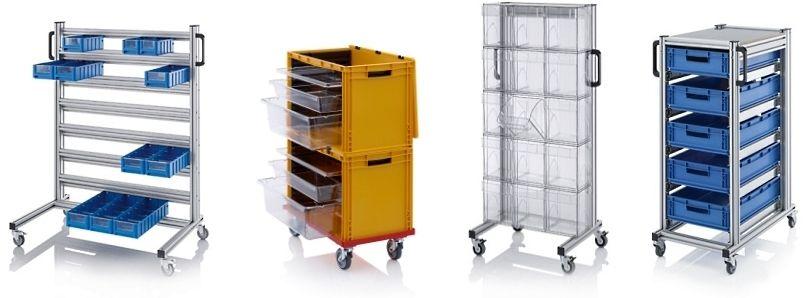 Magazijnwagens voor montage en werkplaats