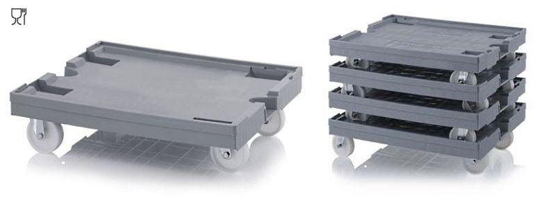 Onderstellen met nylon wielen 80 x 60 CM